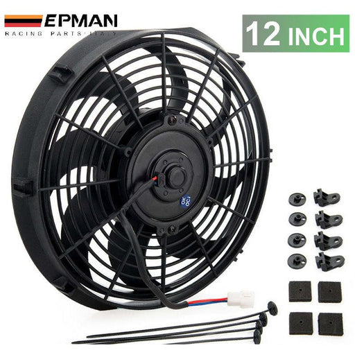 "EPMAN Slim Electric Radiator Fan - 12""-Radiator Fans-Speed Science"