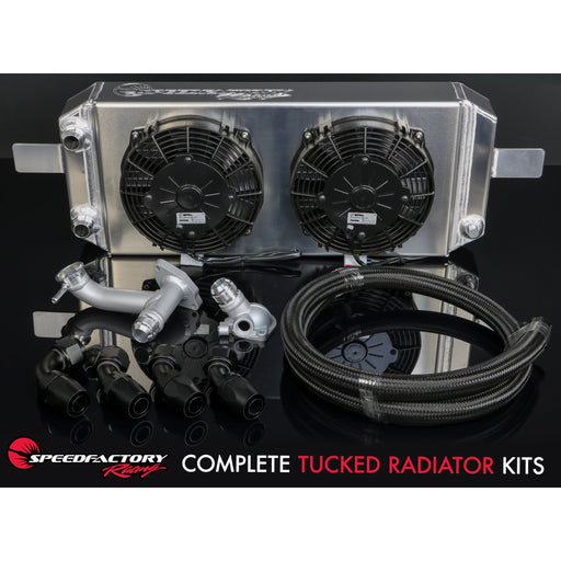 SpeedFactory Complete Tucked Radiator Kit - B Series-Radiators-Speed Science
