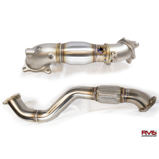 RV6 Catted Downpipe & Front Pipe Combo for 17+ Civic Type-R 2.0T FK8