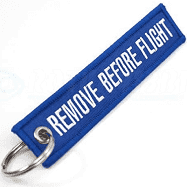 SpeedFactory Remove Before Flight Keychain - Blue