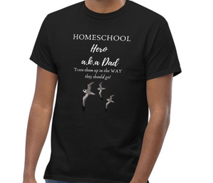 Dad's Homeschool Hero Men's Proverbs 22:6 T-Shirt - Clove And Lime Design Shoppe