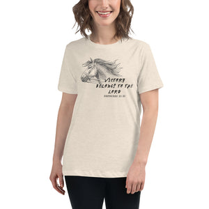 Victory Belongs To The Lord Women's Relaxed T-Shirt - Clove And Lime Design Shoppe