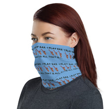 "Load image into Gallery viewer, ""I Play Sax"" Neck Gaiter and Face Covering - Clove And Lime Design Shoppe"