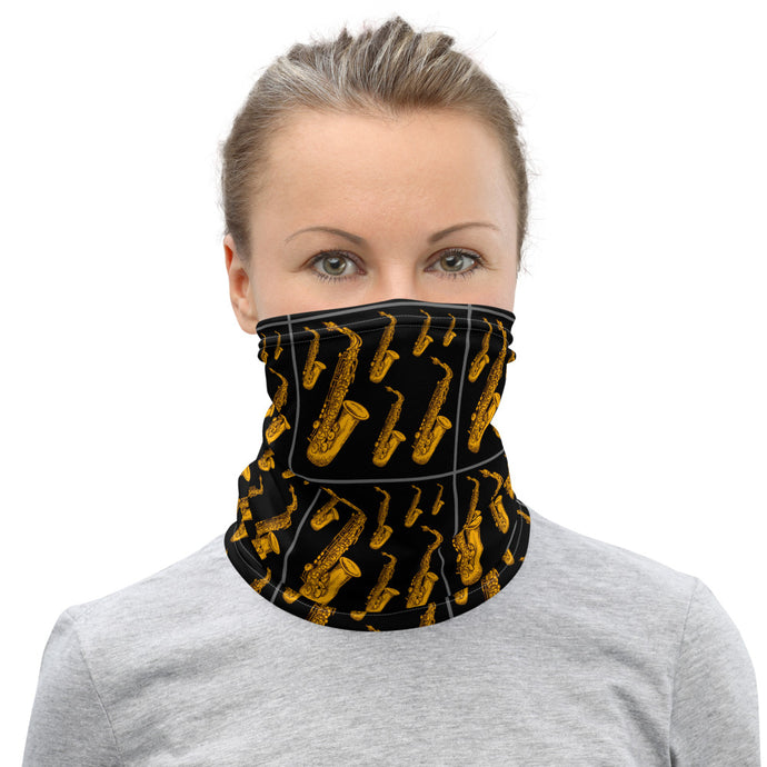 Saxophone Neck Gaiter - Clove And Lime Design Shoppe