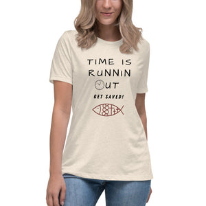 Time Is Running Out Women's Relaxed T-Shirt - Clove And Lime Design Shoppe