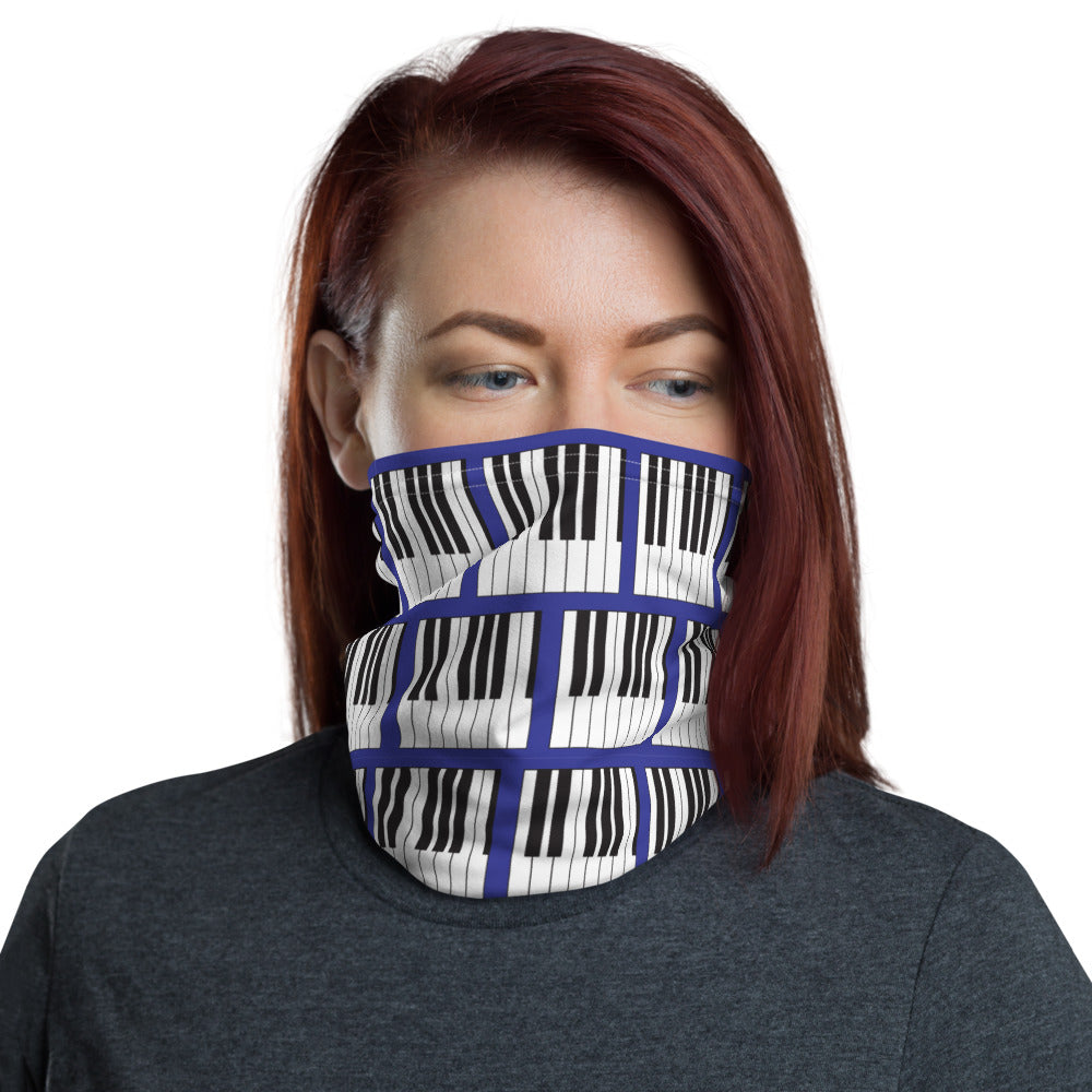 Piano/Keyboard Neck Gaiter Face Covering - Clove And Lime Design Shoppe