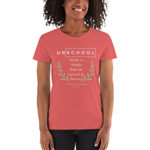 Load image into Gallery viewer, Un-School Women's T-Shirt - Clove And Lime Design Shoppe