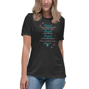 Blessed Revelation 1:3 Women's Relaxed T-Shirt - Clove And Lime Design Shoppe