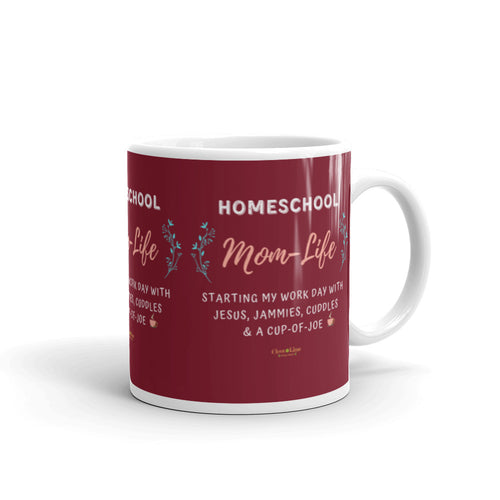 Homeschool Mom With Cup Of Joe - Clove And Lime Design Shoppe