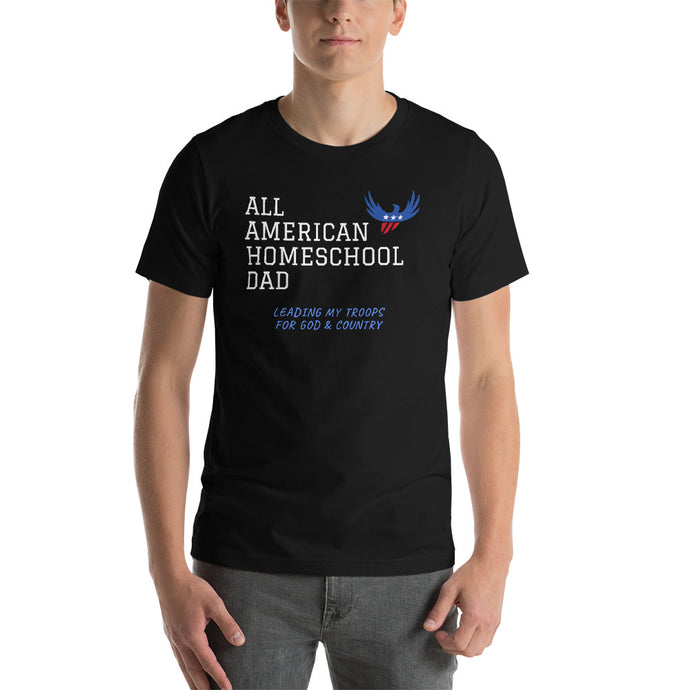 All American Homeschool Dad Short-Sleeve Men's T-Shirt - Clove And Lime Design Shoppe