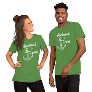 Anchored In Jesus Short-Sleeve Unisex T-Shirt for Men or Women - Clove And Lime Design Shoppe