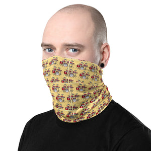 Drum Set Pattern Neck Gaiter and Face Covering - Clove And Lime Design Shoppe