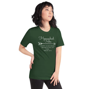 Homeschool Tribe Short-Sleeve Women's T-Shirt - Quiver Dark Color Design - Clove And Lime Design Shoppe