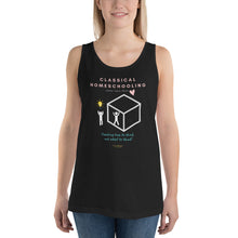 "Load image into Gallery viewer, Classical Conversations Homeschool ""Thinking Outside The Box"" Women's Tank Top - Clove And Lime Design Shoppe"