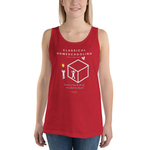 "Classical Conversations Homeschool ""Thinking Outside The Box"" Women's Tank Top - Clove And Lime Design Shoppe"