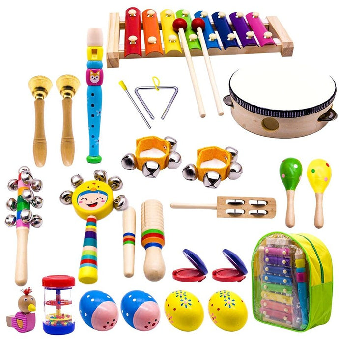 Kid's Musical Instruments: 23 Instruments with Travel Pack - Clove And Lime Design Shoppe