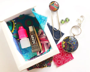DIY Magic Jewellery Kit- Large Keyring, studs and bookmark (ADD ON Extras Available!)