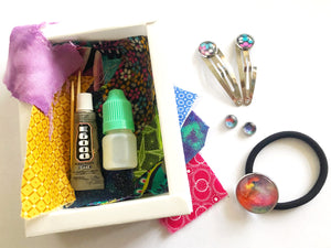 DIY Magic Jewellery Kit- Hairtie, studs and clips (ADD ON Extras Available!)