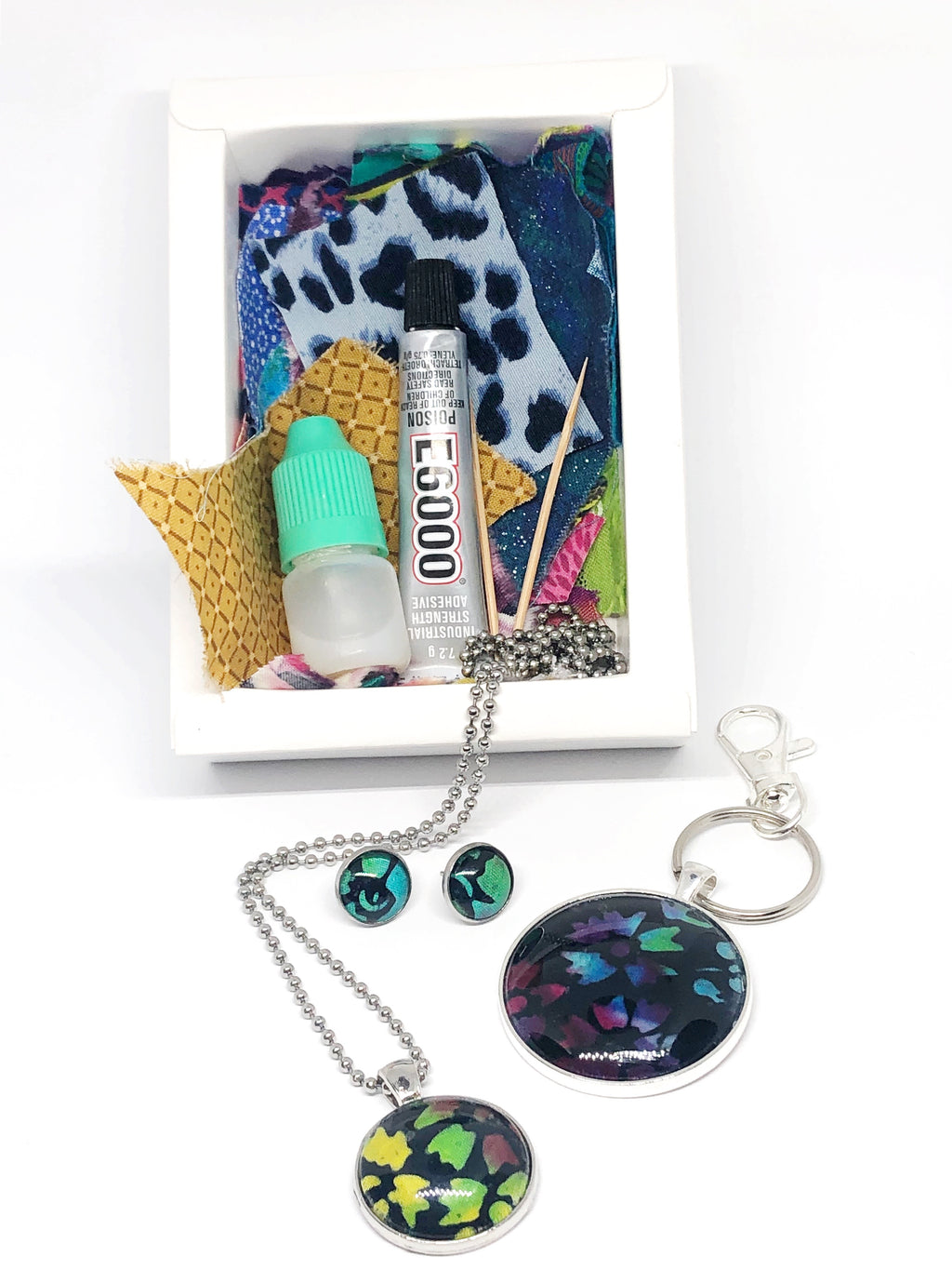 DIY Magic Jewellery Kit- Keyring/ Bagtag, studs and necklace (ADD ON Extras Available!)