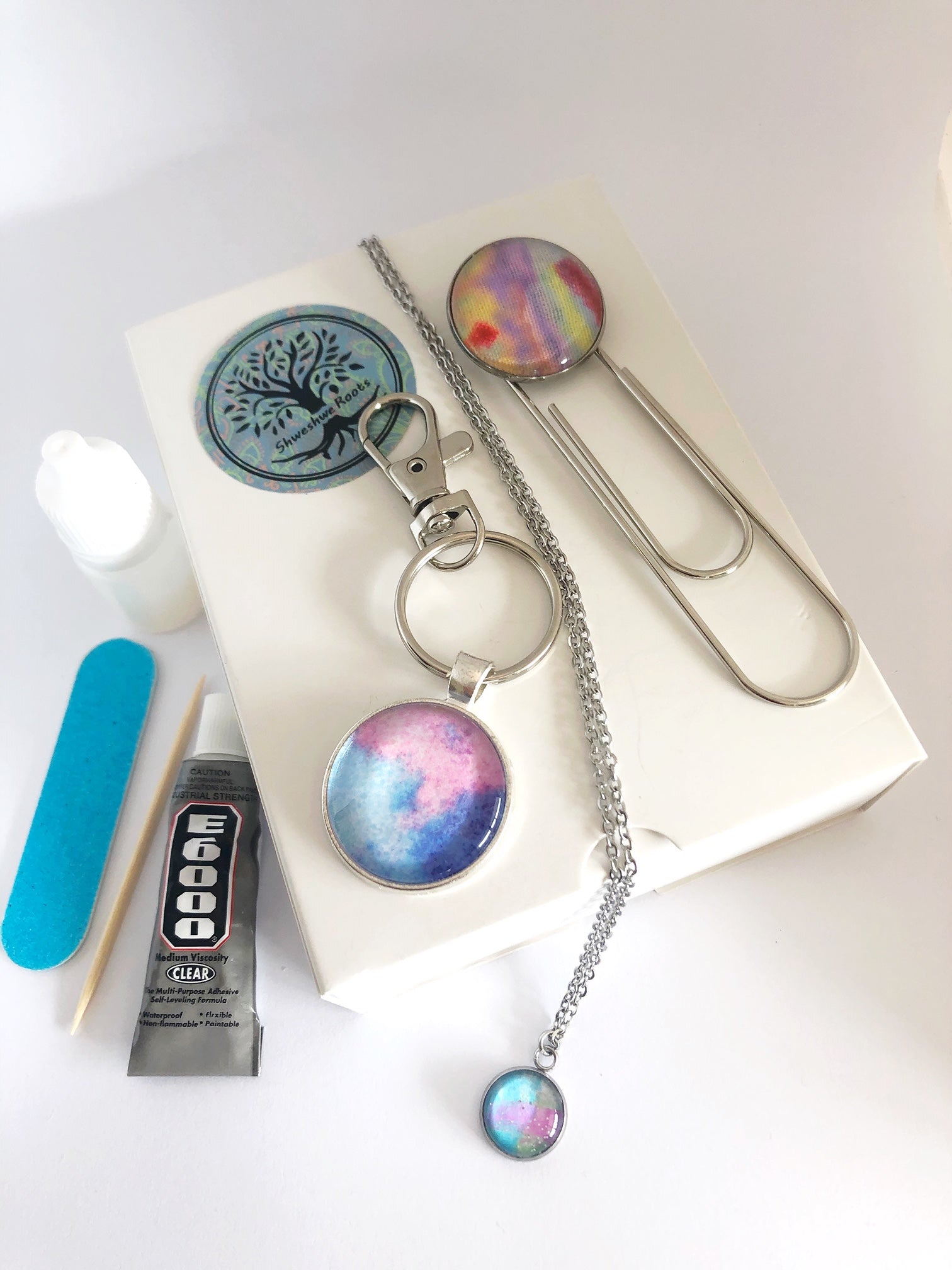 DIY Magic Jewellery Kit- Small Keyring, bookmark and Necklace (ADD ON Extras Available!)