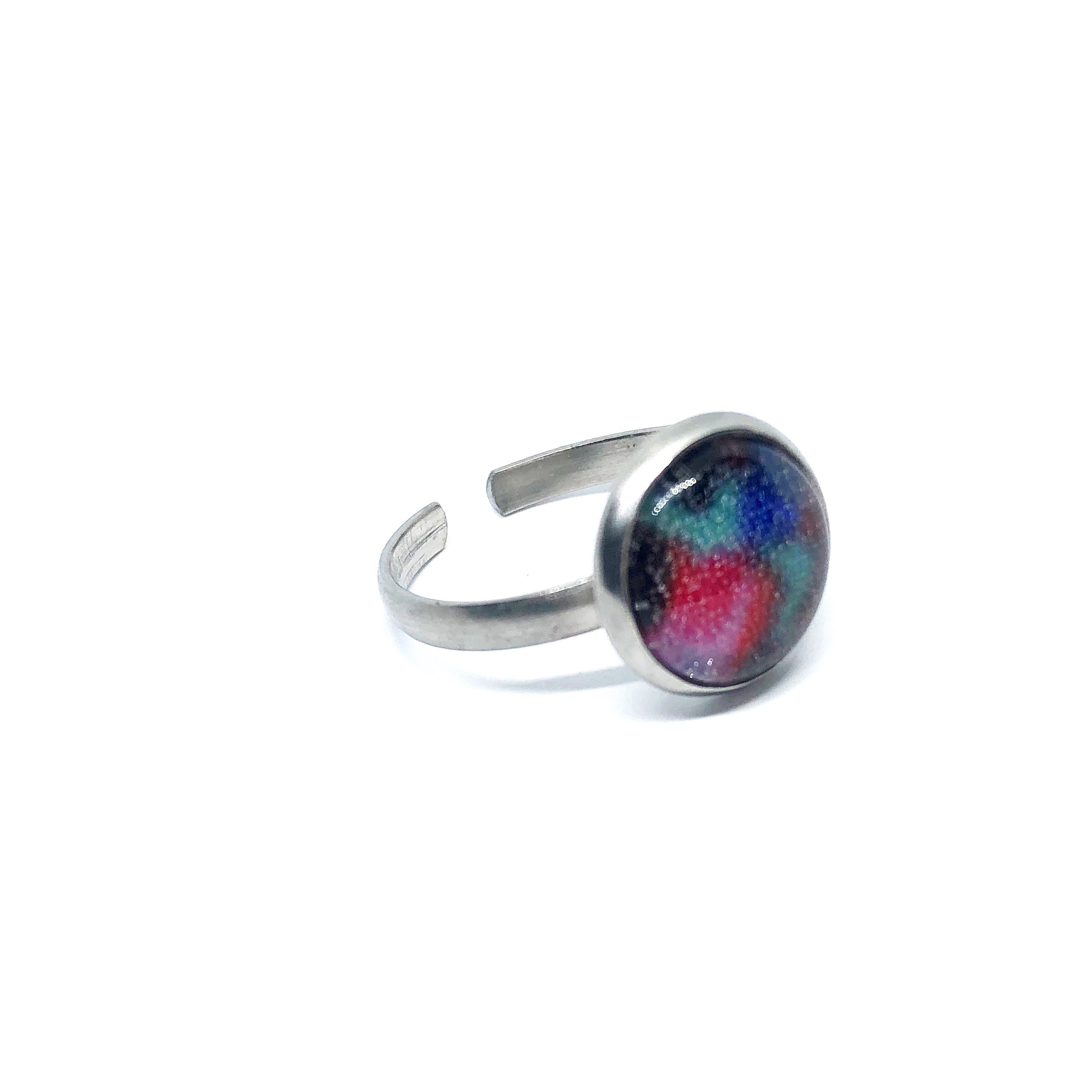 10mm multicolour adjustable ring