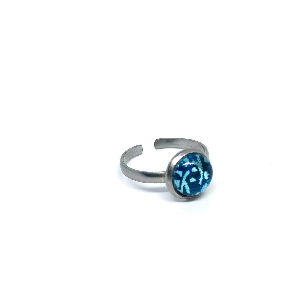 8mm turquoise adjustable ring