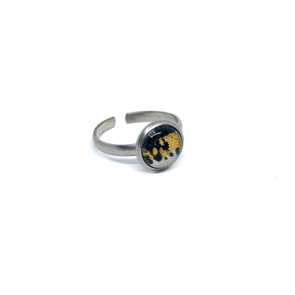 8mm funky leopard adjustable ring