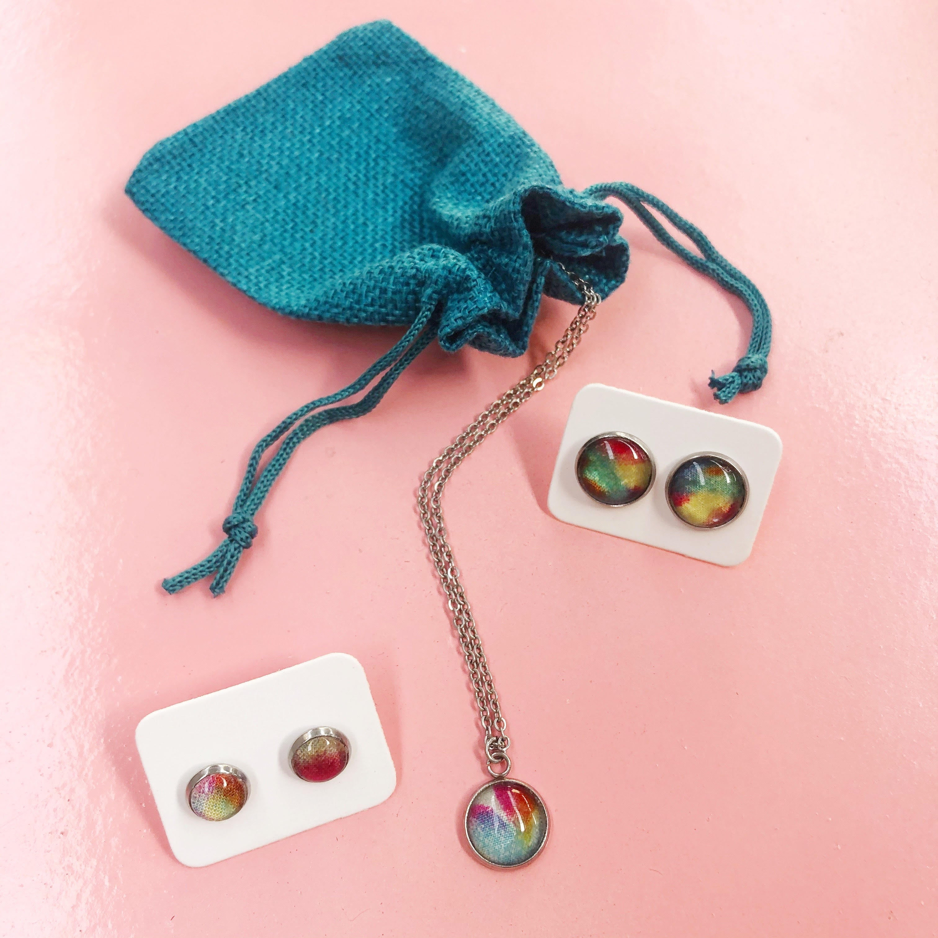 DIY Magic Jewellery Kit- Necklace and Studs x3 (ADD ON Extras Available!)