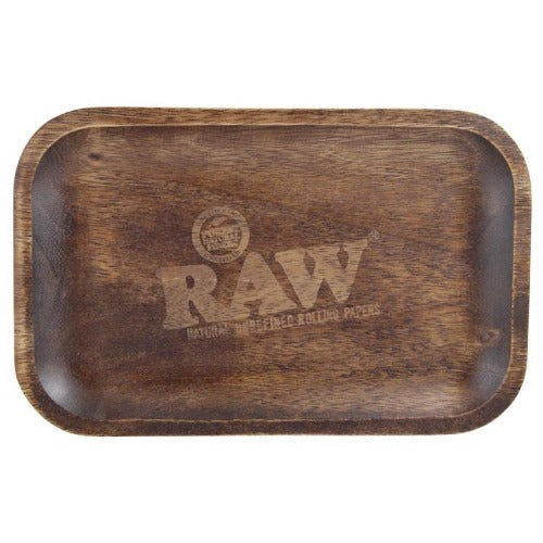 Raw Dark Wood Luxury rolling tray