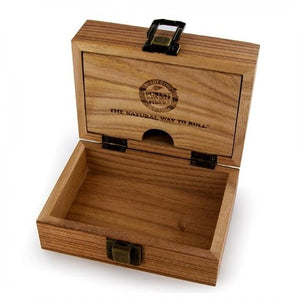 Raw wooden rolling box