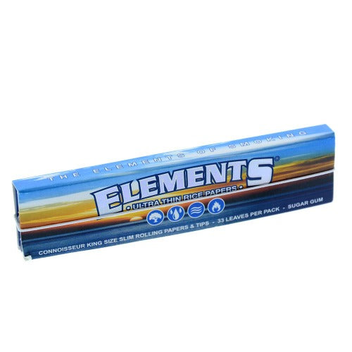 Elements Connoisseur King Size Slim Rolling Papers with Tips Included