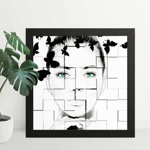 Abstract Black and White Butterfly Framed Art Print - Your Own Unique