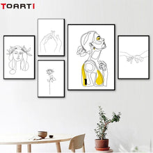 Load image into Gallery viewer, Abstract Women Line Drawing Wall Art - Your Own Unique