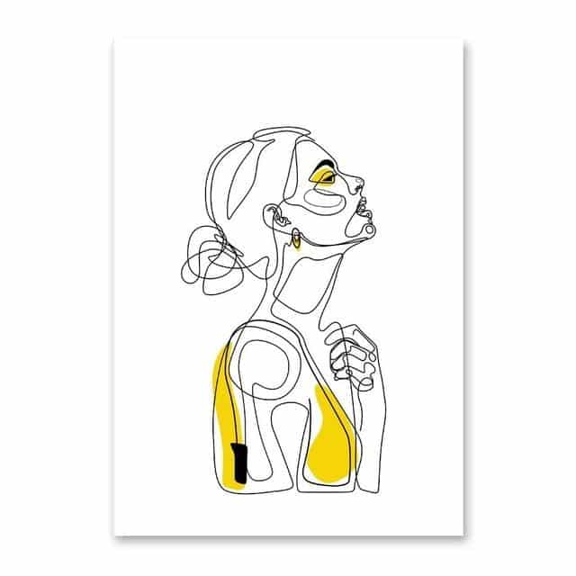 Abstract Women Line Drawing Wall Art - Your Own Unique