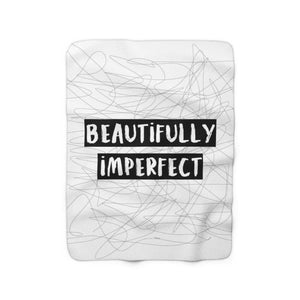 Beautifully Imperfect Sherpa Fleece Blanket - Your Own Unique