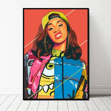 Load image into Gallery viewer, Cardi B American Fashion Female Rapper Pop Art - Your Own Unique