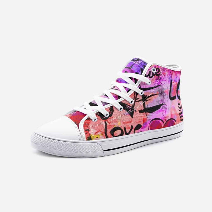 Crazy in Love Unisex High Top Sneakers - Your Own Unique