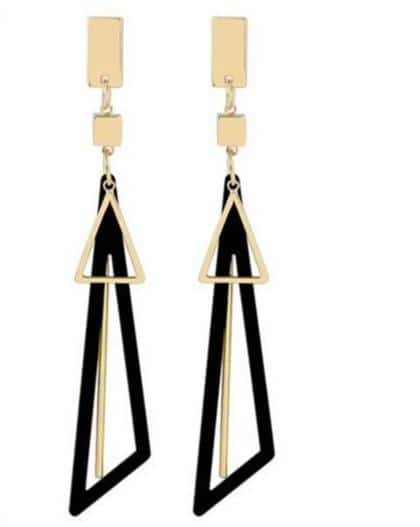 Creative Long Statement Geometric Triangle Earrings - Your Own Unique