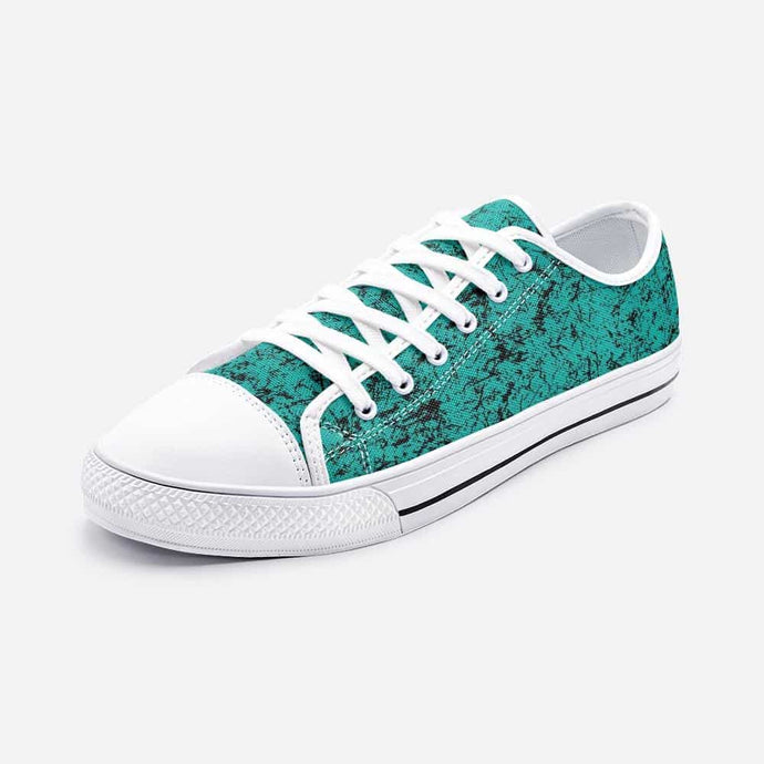 Distressed Teal Unisex Low Top Sneakers - Your Own Unique