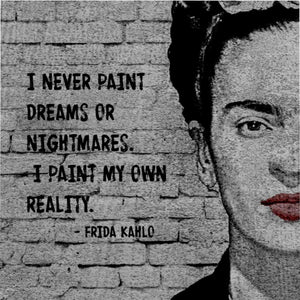 Frida Kahlo Quote Microfiber Duvet Cover - Your Own Unique