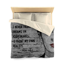 Load image into Gallery viewer, Frida Kahlo Quote Microfiber Duvet Cover - Your Own Unique