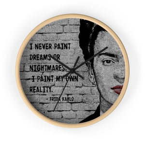 Frida Kahlo Quote Wall clock - Your Own Unique