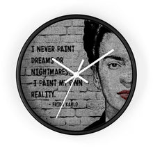 Load image into Gallery viewer, Frida Kahlo Quote Wall clock - Your Own Unique
