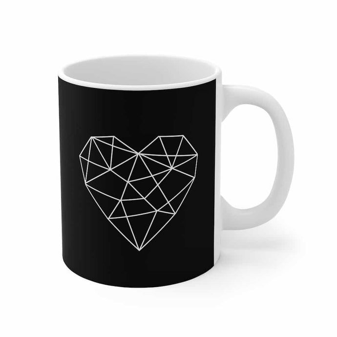 Geometric Heart Mug 11oz - Your Own Unique