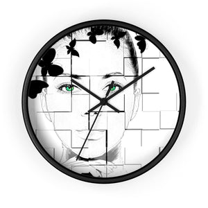 Green Eyed Beauty Wall clock - Your Own Unique