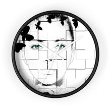 Load image into Gallery viewer, Green Eyed Beauty Wall clock - Your Own Unique