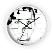 Load image into Gallery viewer, Green Eyed Beauty Wall clock