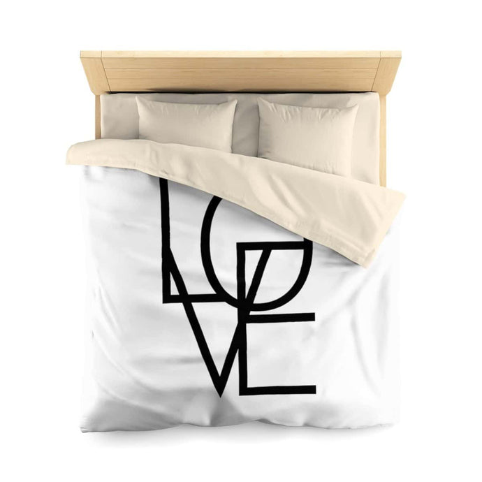 In and out of LOVE Microfiber Duvet Cover - Your Own Unique