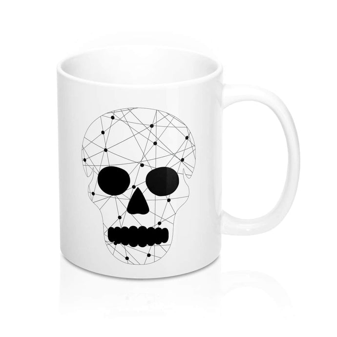 Modern Geometric Skull Mug 11oz - Your Own Unique