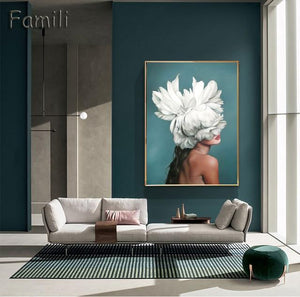 Modern Nordic Abstract Girl Wall Art - Your Own Unique